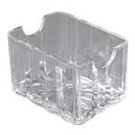 Carlisle 454907 Crystalite Sugar Packet Caddy