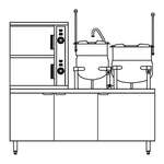 Crown SCX-2-6-6 Convection Steamer/Kettle
