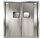 Curtron Products SPD-20-AL-DBL-9696 Service-Pro® Series 20 Double Swinging Door