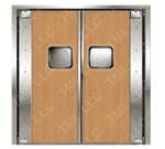 Curtron Products SPD-20-L-DBL-9696 Service-Pro® Series 20 Double Swinging Door
