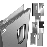 Curtron Products SPD-30-AL-GK-DBL-9696 Service-Pro® Series 30 Double Swinging Door