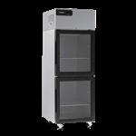 Delfield GBR2P-GH 55.2'' 46 cu. ft. Top Mounted 2 Section Glass Half Door Reach-In Refrigerator