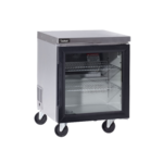 Delfield GUR24P-G 24'' 1 Section Undercounter Refrigerator with 1 Right Hinged Glass Door and Front Breathing Compressor