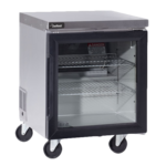 Delfield GUR27P-G 27'' 1 Section Undercounter Refrigerator with 1 Right Hinged Glass Door and Front Breathing Compressor