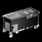Delfield KH2CR-74-BP Shelleyglas® Combination Hot/Cold Serving Counter