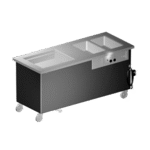 Delfield KH4C-96-NU Shelleyglas® Combination Hot/Cold Serving Counter