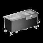 Delfield KHC-96-NU Shelleyglas® Combination Hot/Cold Serving Counter