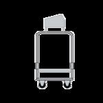 Delfield UTSP-2SS Tray & Silver Cart