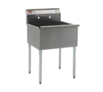 """Eagle Group 1824-1-16/3 Commercial Sink, (1) One Compartment, 16 Gauge Stainless Steel Construction with Galvanized Steel Legs and without Drainboard - 25.38"""" W"""
