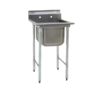 """Eagle Group 314-16-1 Commercial Sink, (1) One Compartment, Stainless Steel Construction with Galvanized Steel Legs and without Drainboard - 23.25"""" W"""