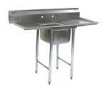 """Eagle Group 412-16-1-24 Commercial Sink, (1) One Compartment, Stainless Steel Construction with Galvanized Steel Legs and with 2 Drainboards - 66.5"""" W"""