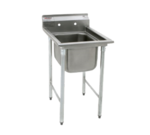 """Eagle Group 414-16-1-X Commercial Sink, (1) One Compartment, Stainless Steel Construction with Galvanized Steel Legs and without Drainboard - 23.25"""" W"""