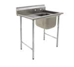 """Eagle Group 414-24-1-18L Commercial Sink, (1) One Compartment, Stainless Steel Construction with Galvanized Steel Legs and With Left-hand Drainboard - 46.75"""" W"""