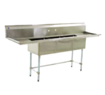 """Eagle Group BPS-2454-3-18-FC Commercial Sink, (3) Three Compartment, Construction with and - 90.00"""" W"""