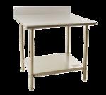 "Eagle Group BPT-3096KL Work Table, 18 Gauge Stainless Steel Top with Galvanized Steel Undershelf and 4-1/2"" Backsplash - 96""W x 30""D"