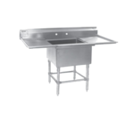 """Eagle Group FN2018-1-36R-14/3 Commercial Sink, (1) One Compartment, 14 Gauge Stainless Steel Construction with Stainless Steel Legs and With Right-hand Drainboard - 57.5"""" W"""