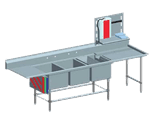 Eagle Group FNP2860-3-48TR Spec-Master FNP Series Coved Corner Prep Sink