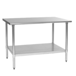 """Eagle Group T3036B-2X Work Table, 16 Gauge Stainless Steel Top with Undershelf, Galvanized Steel Legs and without Backsplash - 36""""W x 30""""D x 36.13""""H"""