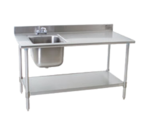 Eagle Group T3072SEB-BS-E23R-X Deluxe Work Table with Sink