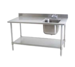 Eagle Group Eagle T3048SEB-BS-E23R-X Deluxe Work Table with Sink