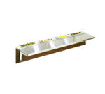 "Eagle Group Eagle TS-DB-HT3 Tray Shelf. 48"" x 10""W"