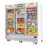 Everest Refrigeration EMGF69 Reach-In Glass Door Ice Cream Freezer