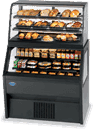 Federal Industries 2CD3628/RSS6SC Specialty Display Hybrid Merchandiser Refrigerated Self-Serve Bottom With Non-Refrigerated Service Top