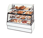 Federal Industries Federal Industries CGR7760DZH Curved Glass Horizontal Dual Zone Bakery Case Refrigerated Bottom Non-Refrigerated Top