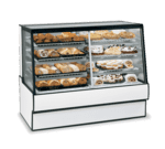 Federal Industries SGR7742DZ High Volume Vertical Dual Zone Bakery Case Refrigerated Left Non-Refrigerated Right