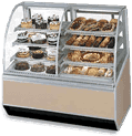 Federal Industries SN48-3SC Series 90 Dual Bakery Case Refrigerated Left Non-Refrigerated Right