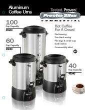 Proctor Silex Coffee Maker Instruction Manual : Hamilton Beach 45100 Proctor-Silex Coffee Urn CKitchen.com