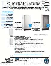 Hoshizaki C-101BAH-AD Ice Maker With Bin | CKitchen.com