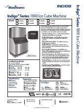 Manitowoc Ir 1800a Indigo Series Ice Maker