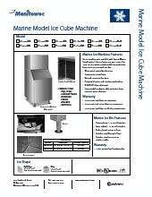 Manitowoc Iy 1805w Indigo Series Ice Maker