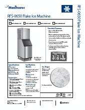 Manitowoc Rfs 0650w Ice Maker Kitchen Equipment