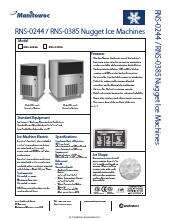 Manitowoc Rns 0244a Ice Maker With Bin
