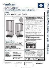 Manitowoc Rns 20at Ice Maker Water Dispenser