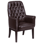 Flash Furniture BT-444-SD-BN-GG Traditional Side Reception Chair