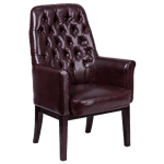 Flash Furniture BT-444-SD-BY-GG Traditional Side Reception Chair