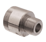 """FMP 113-1137 Faucet Spout Adaptor by Fisher 3/8"""" male inlet to Fisher spout thread male outlet"""