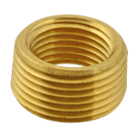 "FMP 117-1032 Brass Reducing Bushing - Flush 3/4"" x 1/2"" NPT"