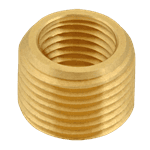 "FMP 117-1033 Brass Reducing Bushing - Flush 3/8"" x 1/4"" NPT"