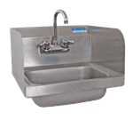 "FMP 117-1388 Hand Sink with Faucet and Splash Guards 15-1/4"" H x 17"" W outside dimensions"