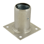 "FMP 119-1067 Stainless Steel 3-1/2"" Plate Mount Leg Socket"