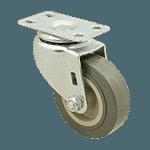"FMP 120-1011 Standard-Duty 3"" Plate Caster Polyurethane wheel with plastic hub"