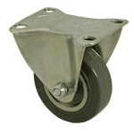 "FMP 120-1022 Standard-Duty 3"" Rigid Plate Caster Polyurethane wheel with plastic hub"
