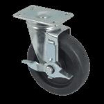 "FMP 120-1100 Medium-Duty 5"" Plate Caster with Brake"