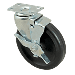 """FMP 120-1108 Standard-Duty 5"""" Plate Caster with Brake"""