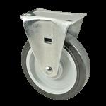 """FMP 120-1114 Medium Duty 5"""" Rigid Plate Caster Polyurethane wheel with plastic hub"""