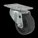 "FMP 120-1172 Swivel Dolly 2"" Plate Caster Black polyolefin wheel and hub"